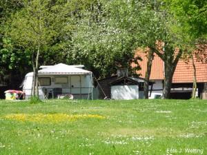 Camping achter Limburgse carré boerderij